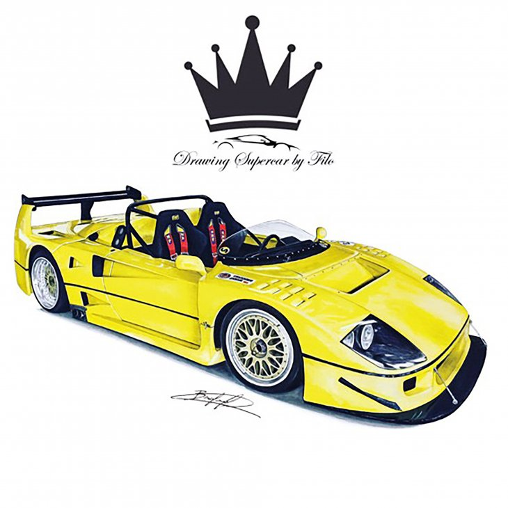 Drawing Supercar By Filo
