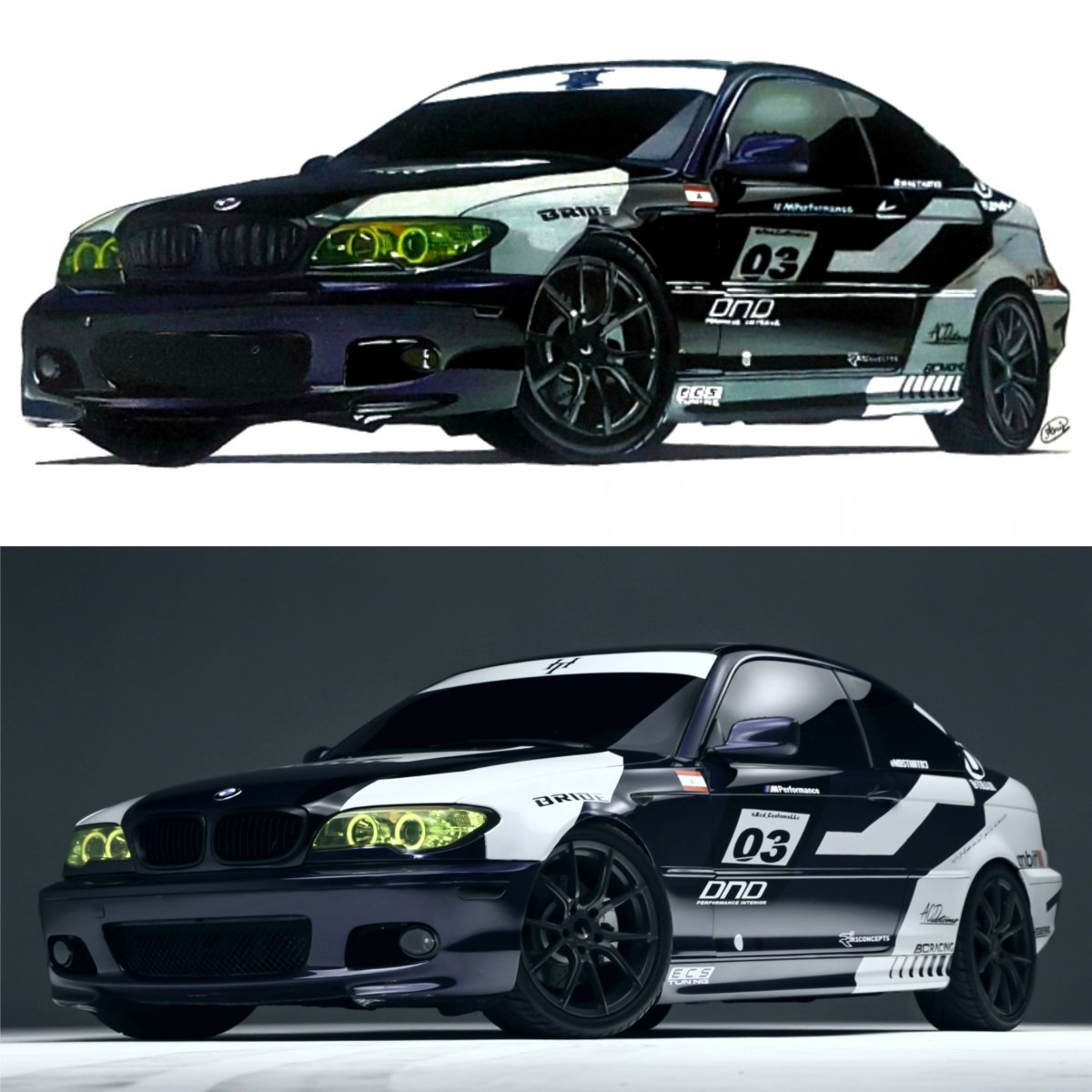 Bmw E46 M3 Anuj Car Art Draw To Drive