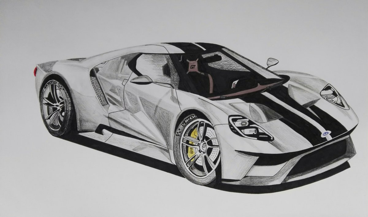 Ford GT (Pencil and Markers)