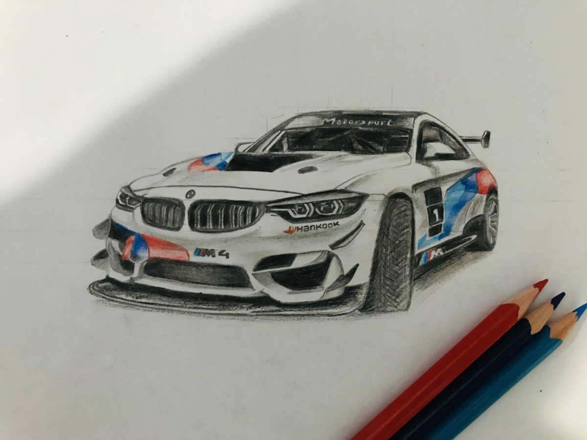 Hand drawn Bmw
