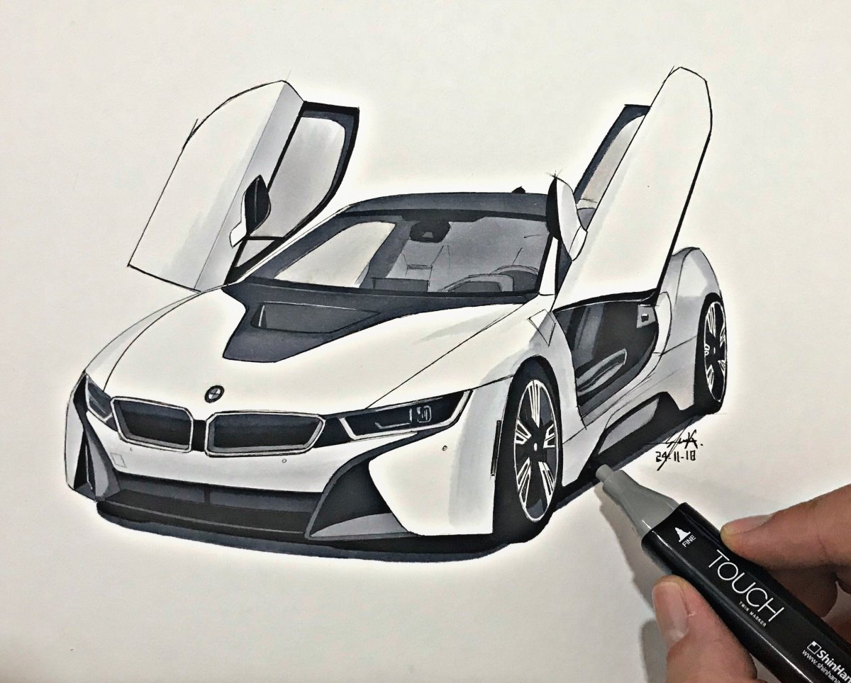 Bmw I8 Elieautodesign Draw To Drive