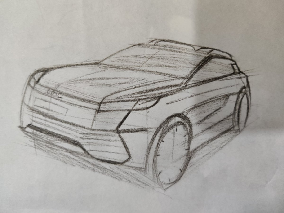 GMC suv sketch design