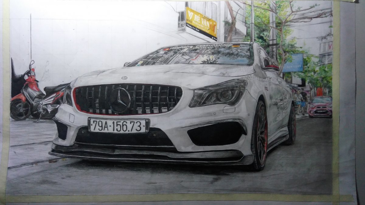 Mercedes CLA45 AMG in progress