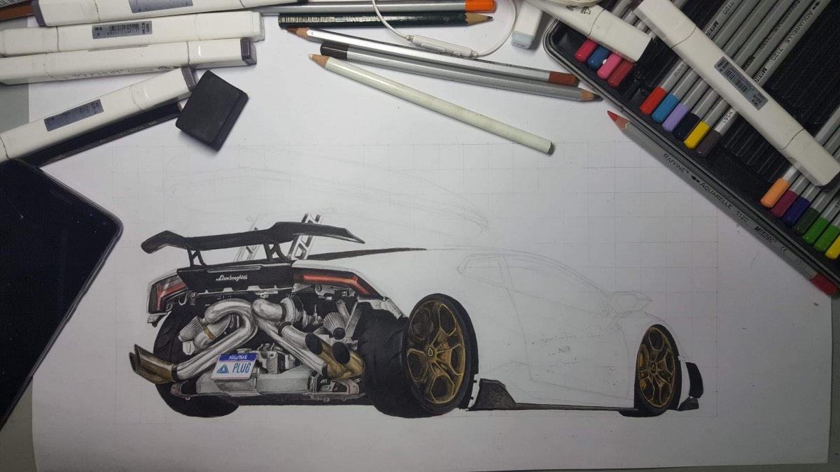 Twin turbo lamborghini huracan in progress
