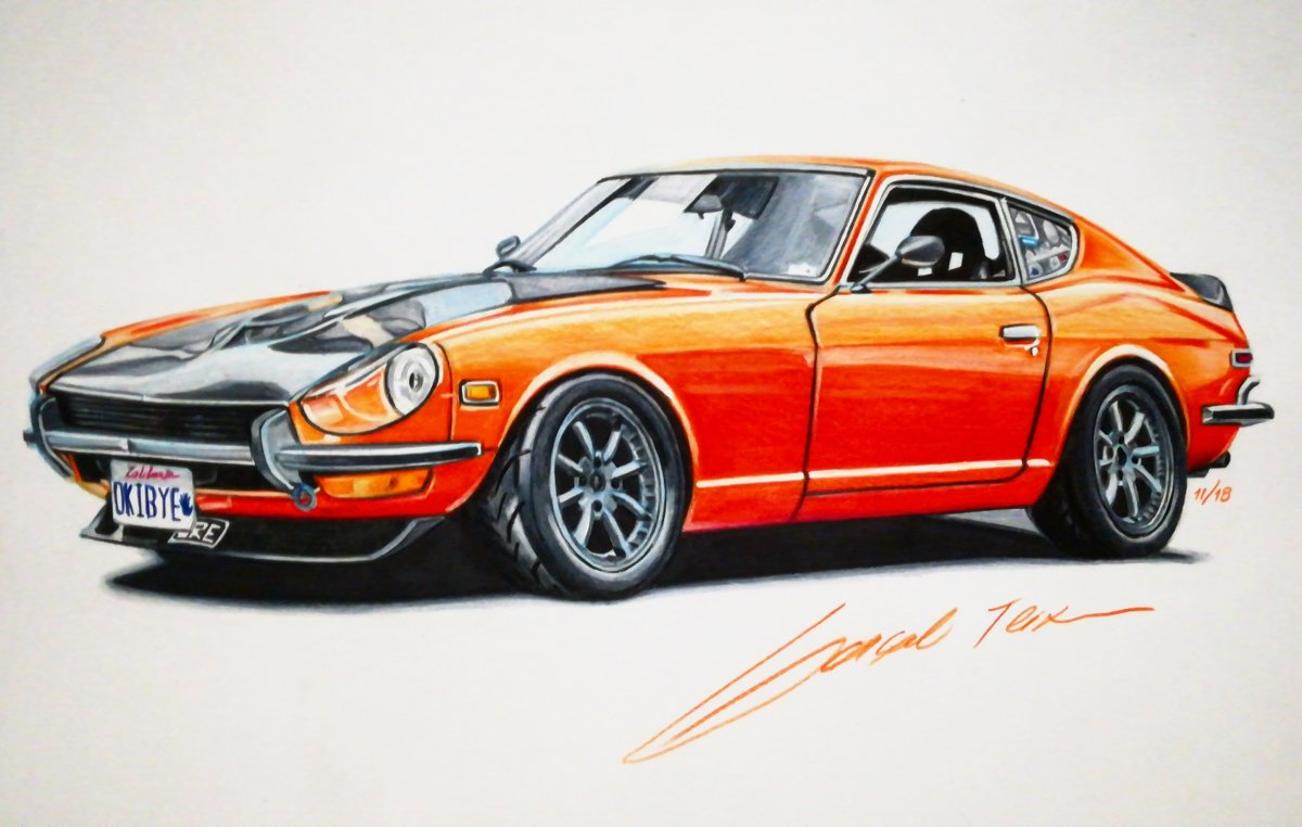 Datsun 240 Z Ole Orange Bang