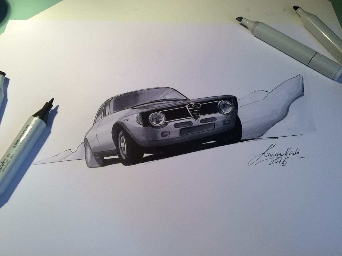 Alfa Romeo GTA (1965) Sketch