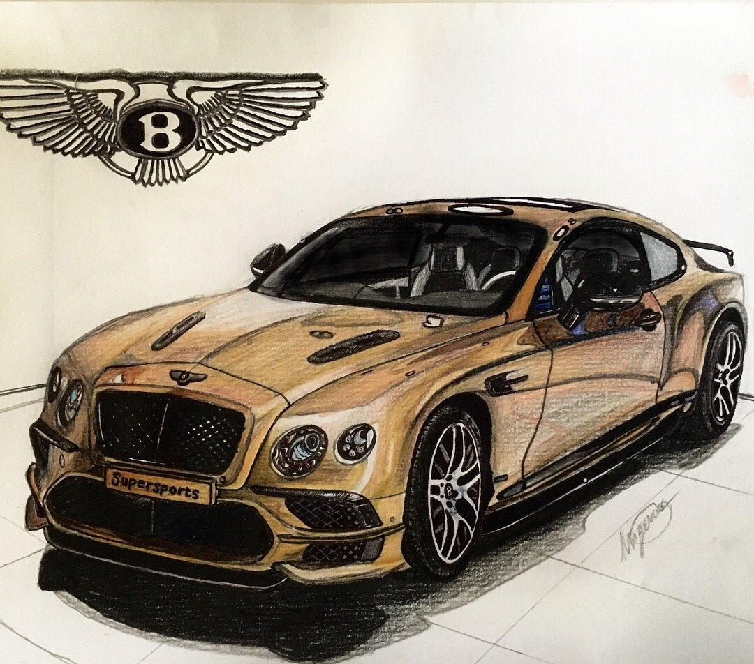 Gold Bentley supersports