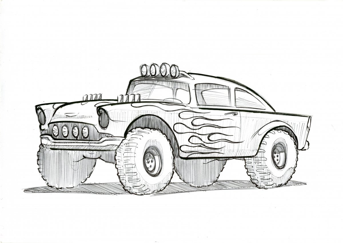 Chevrolet Bel Air 55 off road