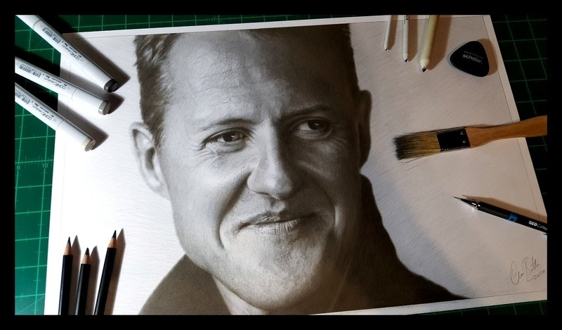 Michael Schumacher Portrait drawing artwork
