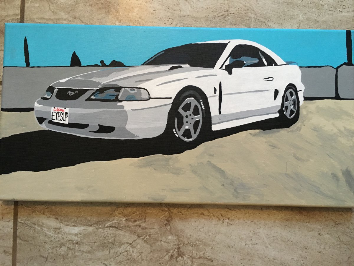 Sn95 mustang eyes up auto art draw to drive