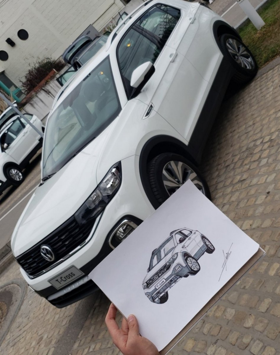 Sketch Volkswagen T-Cross