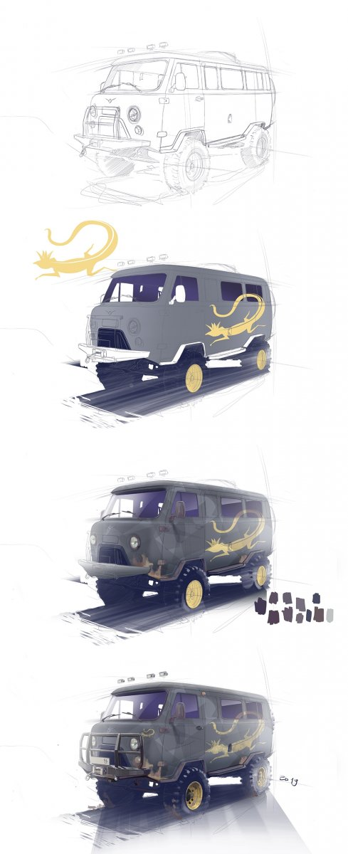 UAZ Painting proccess