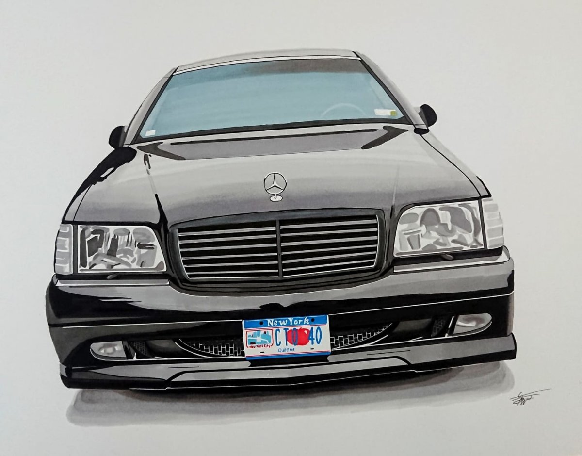 Mercedes S-class W140 with New York plates