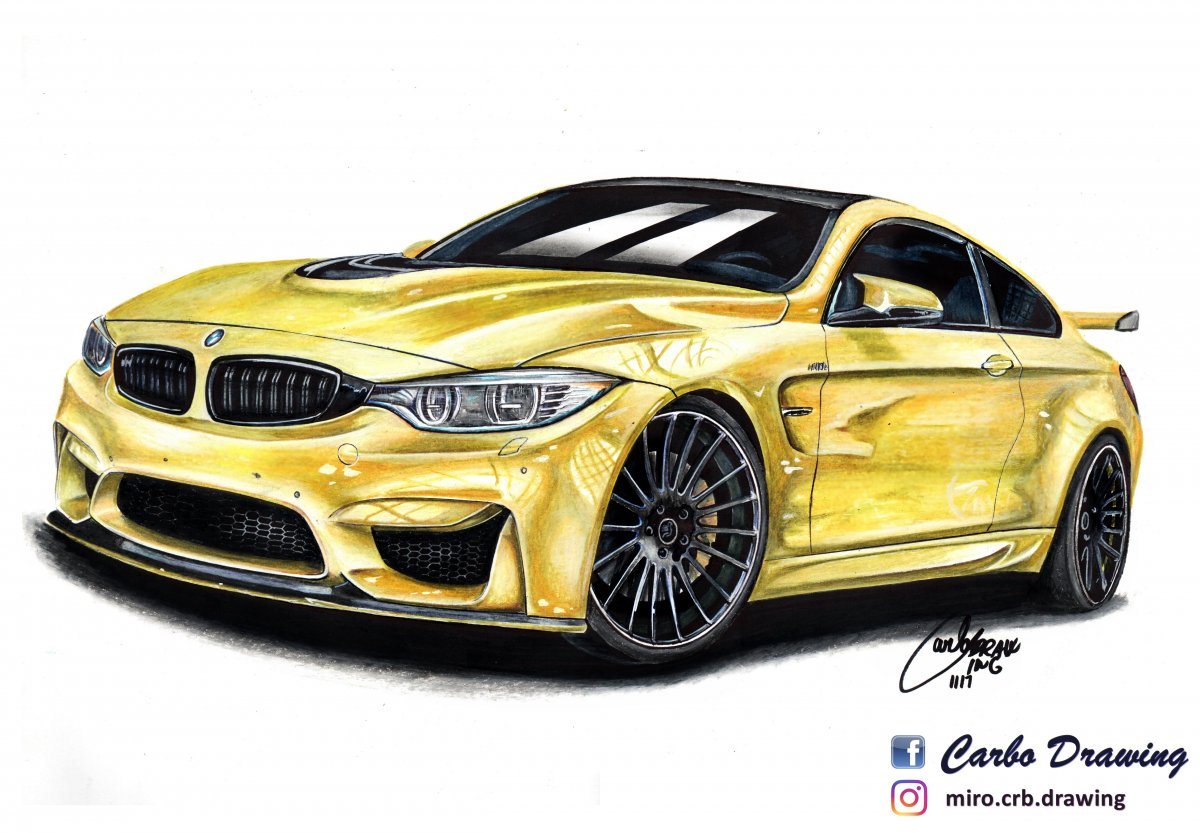Bmw M4 Hamann Carbo Drawing Draw To Drive