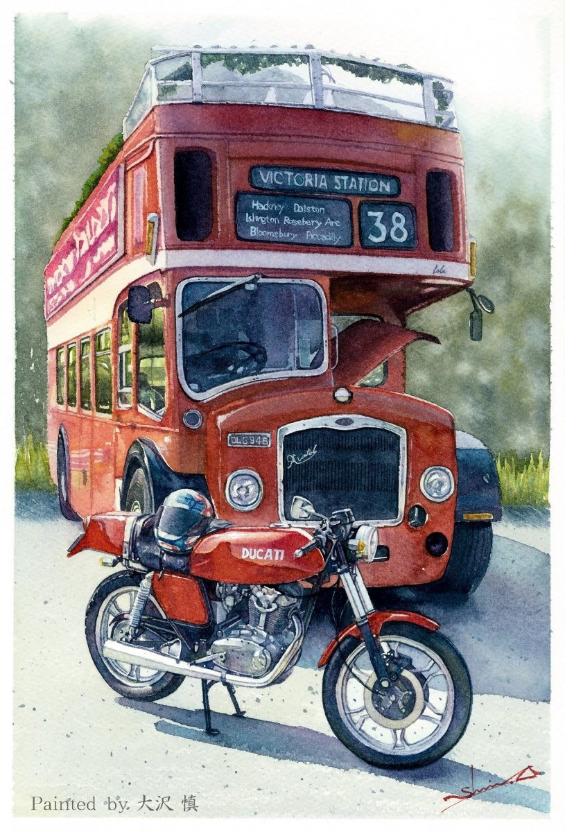 DUCATI VENT and LONDON BUS