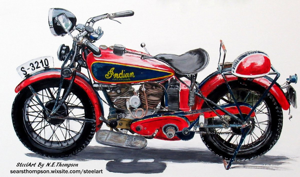 1933 Indian Motoplane Painting