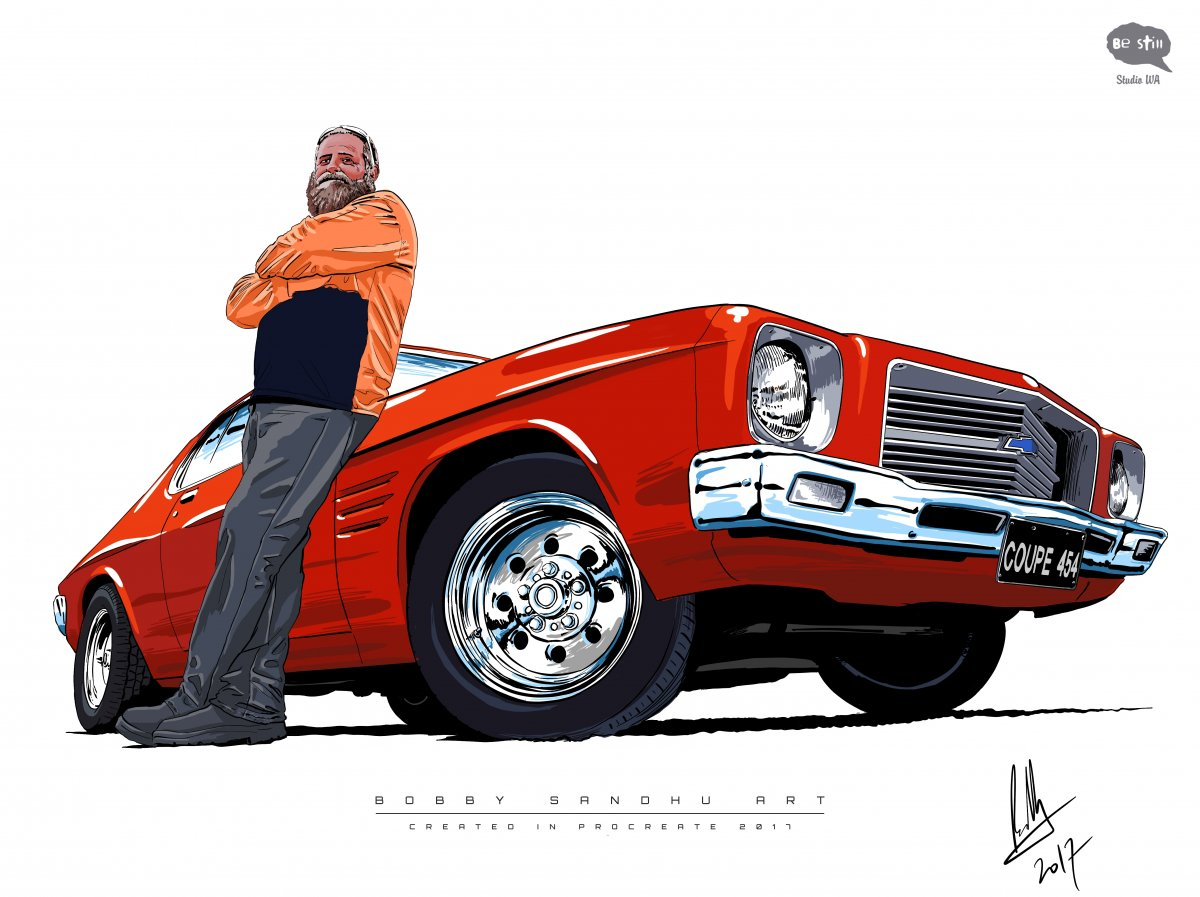 Holden Monaro Digital Drawing