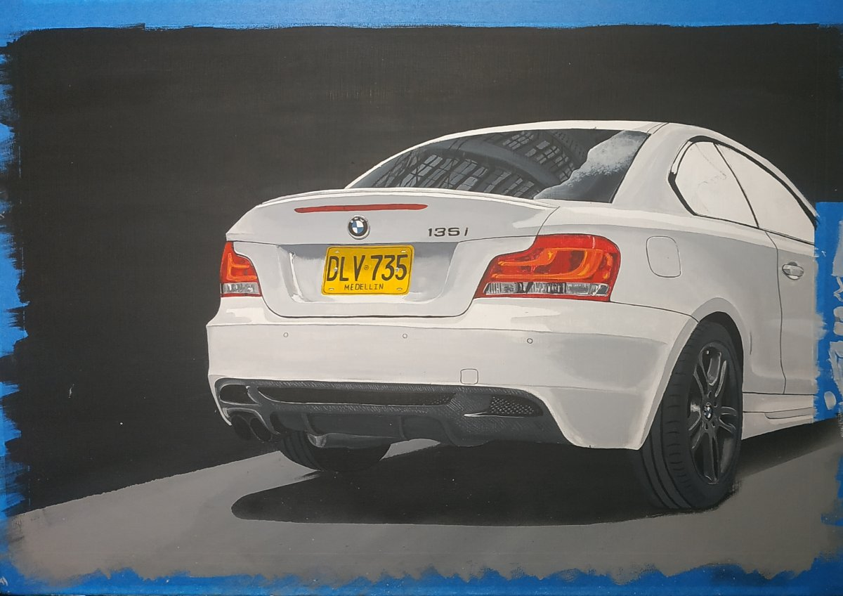 BMW 135i paint in process