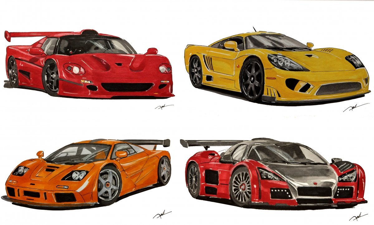 Supercars sketches compilation