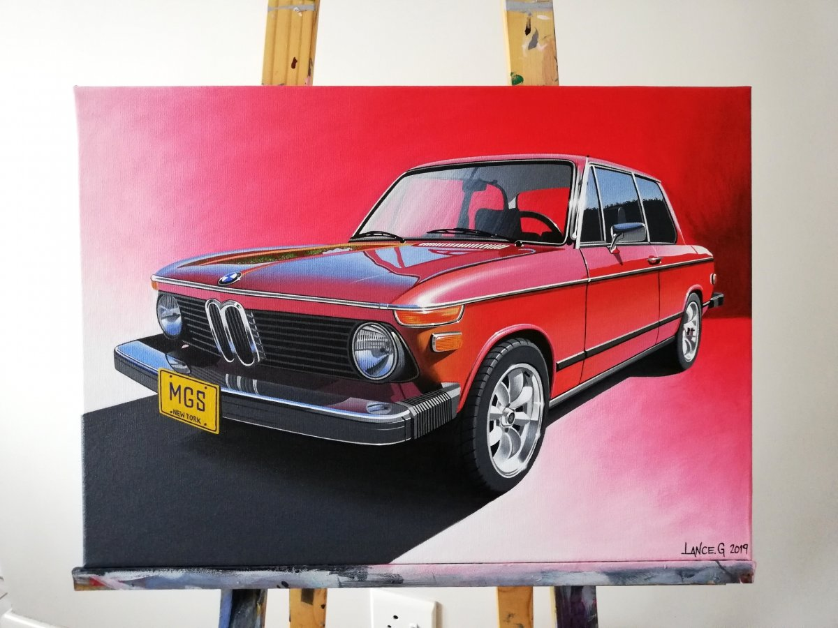 BMW 2002 ARTWORK/ACRYLIC PAINTING