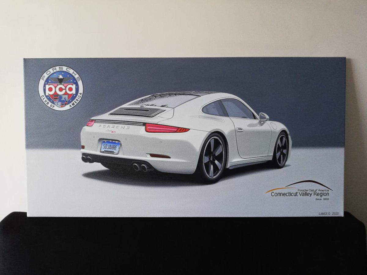 Porsche 911 50th Anniversary Artwork/Painting